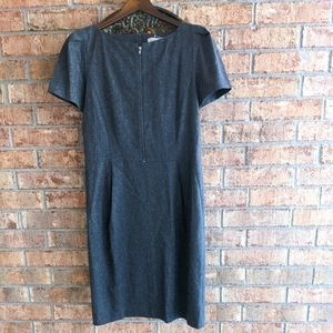 Gerard Darel Gray Wool Viscose Shift Career Dress
